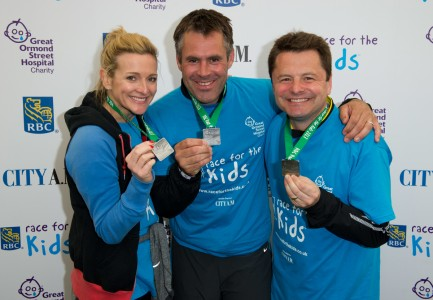 GOSH Gabby Logan, Kenny Logan & Chris Hollins at last year's race