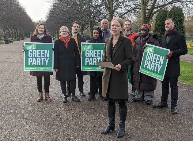 Sian Berry and Green party supporters