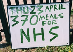 Old Wimbledonians Cook Up 3,000 NHS Hot Meals