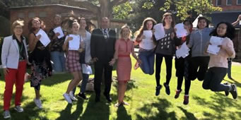Merton Pupils And Teachers Celebrate On GCSE Results Day