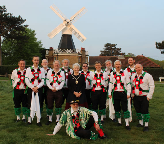 Greensleeves Morris Men and Mayor Mary Curtin