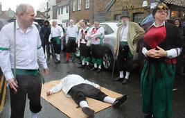 Greensleeves Morris Men Entertain Wimbledon Boxing Day Crowds