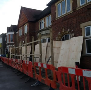 Work on Merton Hall