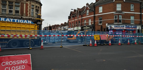 South Wimbledon roadworks