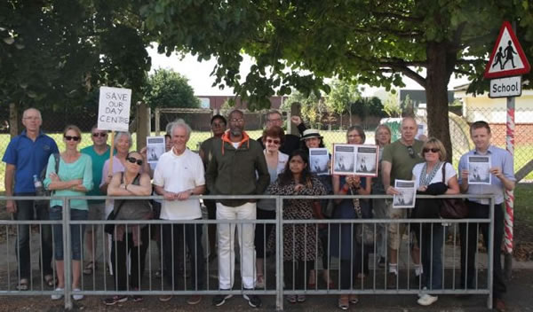Merton Abbey primary school protest