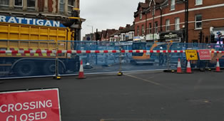 Gas Main Project At Key Wimbledon Junction Still Causing Delays
