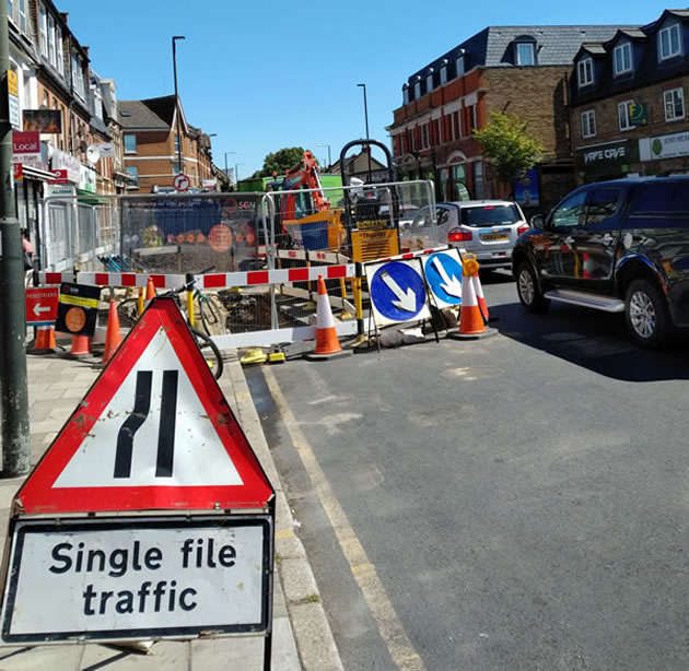 Kingston Road roadworks