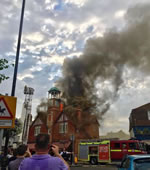 Former Wimbledon Fire Station Set Ablaze By Lightning Strike
