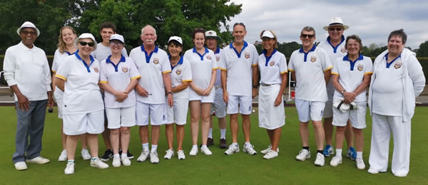 Wimbledon Park Bowls Club members