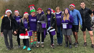 Wimbledon Common Santa Parkrun Helps Charity Funds